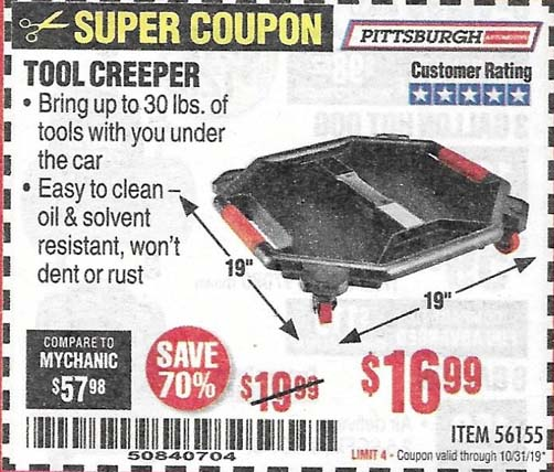 Harbor Freight Tools Coupons, Harbor Freight Coupon, HF Coupons-Pittsburgh Tool Creeper