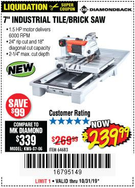 Harbor Freight Tools Coupons, Harbor Freight Coupon, HF Coupons-1.5 Hp, 7