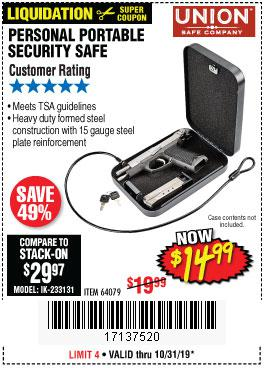 Harbor Freight Tools Coupons, Harbor Freight Coupon, HF Coupons-Personal Portable Security Safe