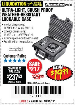 Harbor Freight Tools Coupons, Harbor Freight Coupon, HF Coupons-Apache 2800 Case