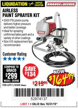 Harbor Freight Tools Coupons, Harbor Freight Coupon, HF Coupons-Airless Paint Sprayer Kit