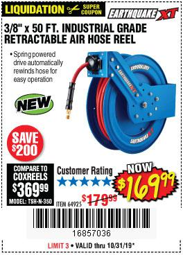 Harbor Freight Tools Coupons, Harbor Freight Coupon, HF Coupons-Earthquake 3/8