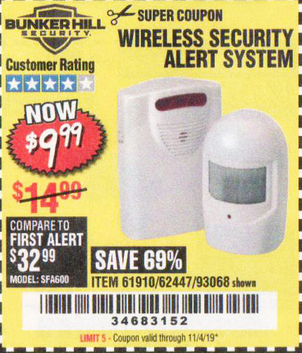 Harbor Freight Tools Coupons, Harbor Freight Coupon, HF Coupons-Wireless Security Alert System