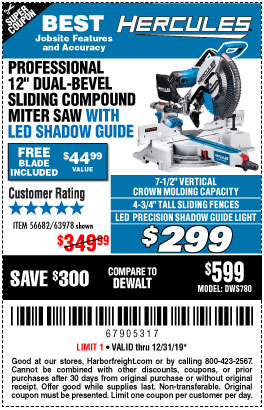 Harbor Freight Tools Coupons, Harbor Freight Coupon, HF Coupons-Hercules Professional 12