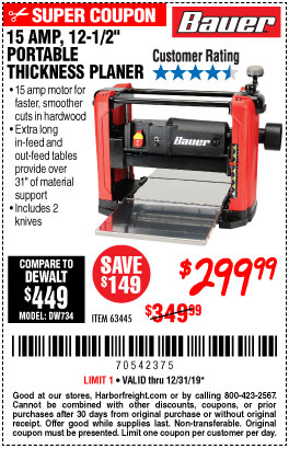 Harbor Freight Tools Coupons, Harbor Freight Coupon, HF Coupons-Bauer 15 Amp 12 1/2