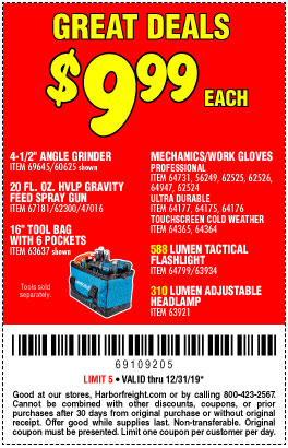 Harbor Freight Tools Coupons, Harbor Freight Coupon, HF Coupons-310 Lumen Adjustable Headlamp/588 Lumen Tactical Flashlight