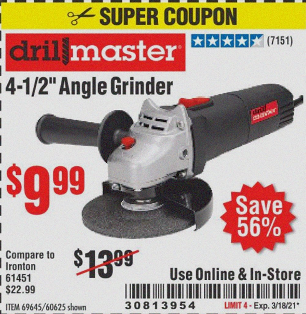 Harbor Freight Tools Coupons, Harbor Freight Coupon, HF Coupons-4 1/2