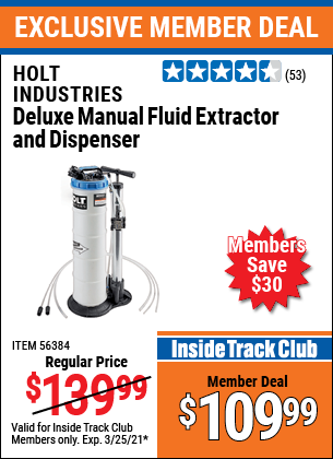 Harbor Freight Tools Coupons, Harbor Freight Coupon, HF Coupons-2.3 Gallon Deluxe Manual Fluid Extractor And Dispenser