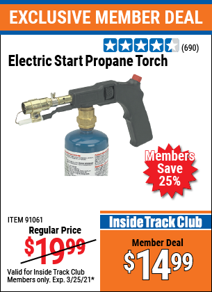 Harbor Freight Tools Coupons, Harbor Freight Coupon, HF Coupons-Electric Start Propane Torch