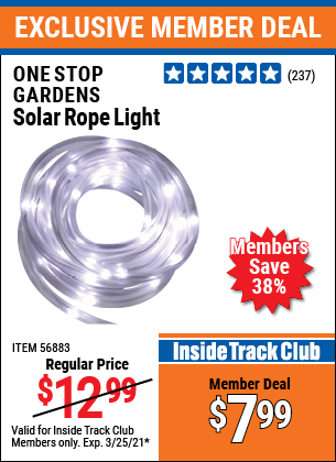 Harbor Freight Tools Coupons, Harbor Freight Coupon, HF Coupons-Solar Rope Light