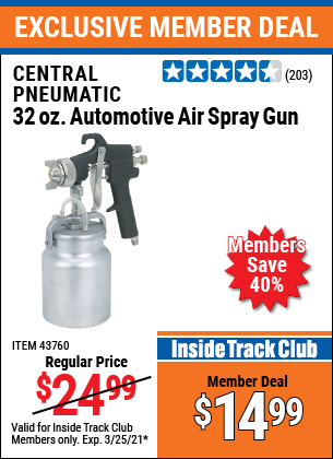 Harbor Freight Tools Coupons, Harbor Freight Coupon, HF Coupons-32 Oz. Heavy Duty Automatic Air Spray Gun