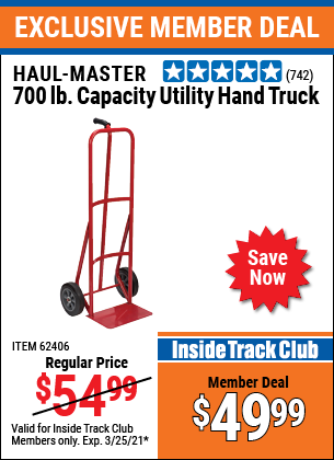 Harbor Freight Tools Coupons, Harbor Freight Coupon, HF Coupons-700 Lb. Capacity Utility Hand Truck