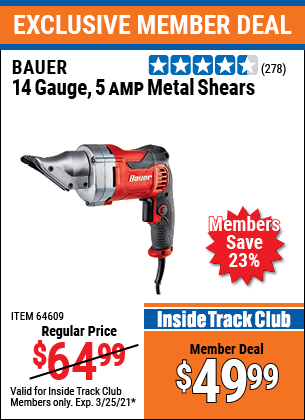 Harbor Freight Tools Coupons, Harbor Freight Coupon, HF Coupons-14 Guage, 5 Amp Swivel Head Shears