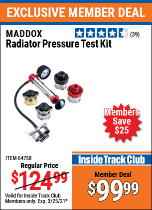 Harbor Freight Tools Coupons, Harbor Freight Coupon, HF Coupons-Maddox Radiator Pressure Test Kit