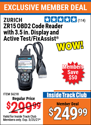 Harbor Freight Tools Coupons, Harbor Freight Coupon, HF Coupons-Zurich Obd2 Code Reader With 3.5