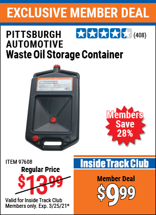 Harbor Freight Tools Coupons, Harbor Freight Coupon, HF Coupons-Waste Oil Storage Container