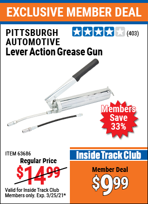 Harbor Freight Tools Coupons, Harbor Freight Coupon, HF Coupons-Lever Action Grease Gun