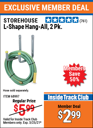 Harbor Freight Tools Coupons, Harbor Freight Coupon, HF Coupons-2 Piece L-shape Hang-all