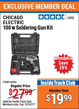 Harbor Freight Tools Coupons, Harbor Freight Coupon, HF Coupons-Chicago Electric Welding 100 Watt Soldering Gun Kit