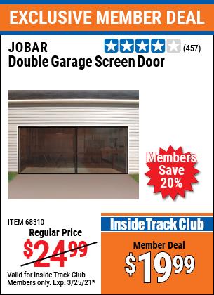 Harbor Freight Tools Coupons, Harbor Freight Coupon, HF Coupons-Double Garage Door Screen