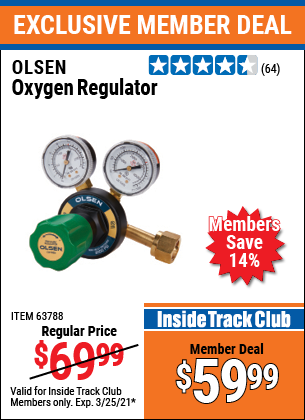Harbor Freight Tools Coupons, Harbor Freight Coupon, HF Coupons-Oxygen Pressure Regulator