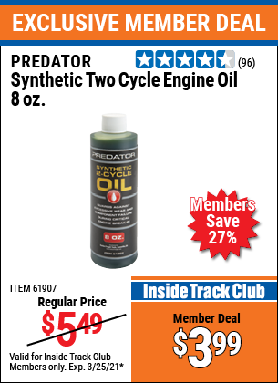 Harbor Freight Tools Coupons, Harbor Freight Coupon, HF Coupons-8 Oz. Synthetic Two Cycle Engine Oil