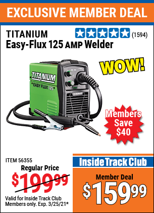 Harbor Freight Tools Coupons, Harbor Freight Coupon, HF Coupons-Easy Flux 125 Amp Welder