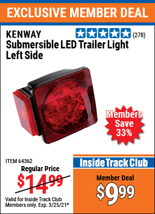 Harbor Freight Tools Coupons, Harbor Freight Coupon, HF Coupons-Submersible Trailer Lights
