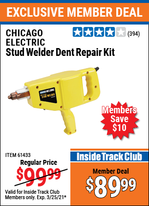 Harbor Freight Tools Coupons, Harbor Freight Coupon, HF Coupons-Stud Welder Dent Repair Kit