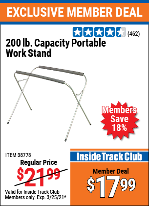 Harbor Freight Tools Coupons, Harbor Freight Coupon, HF Coupons-Portable Work Stand