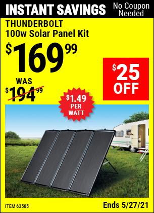 Harbor Freight Tools Coupons, Harbor Freight Coupon, HF Coupons-100 Watt Solar Panel Kit