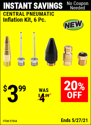 Harbor Freight Tools Coupons, Harbor Freight Coupon, HF Coupons-Inflation Kit, 6 Pc.