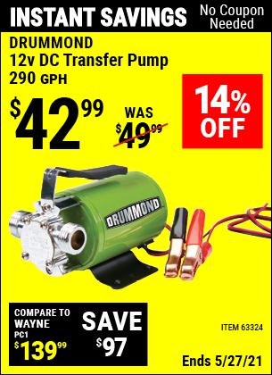 Harbor Freight Tools Coupons, Harbor Freight Coupon, HF Coupons-12 Volt Dc Transfer Pump