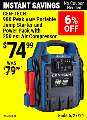 Harbor Freight Tools Coupons, Harbor Freight Coupon, HF Coupons-4 In One Portable Power Pack