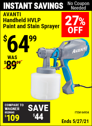 Harbor Freight Tools Coupons, Harbor Freight Coupon, HF Coupons-Avanti Hvlp Hand Held Paint Sprayer