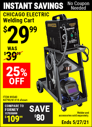 Harbor Freight Tools Coupons, Harbor Freight Coupon, HF Coupons-Mig-flux Welding Cart