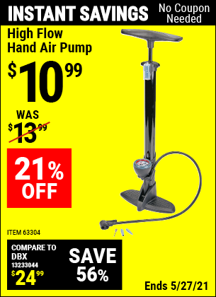 Harbor Freight Tools Coupons, Harbor Freight Coupon, HF Coupons-High Flow Hand Air Pump