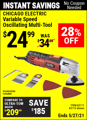 Harbor Freight Tools Coupons, Harbor Freight Coupon, HF Coupons-Variable Speed Multifunction Power Tool