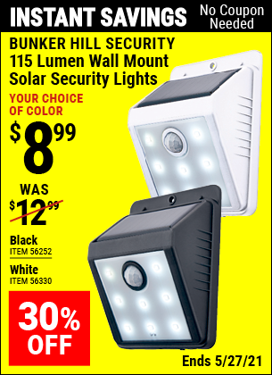 Harbor Freight Tools Coupons, Harbor Freight Coupon, HF Coupons-Wall Mount Solar Security Light, White