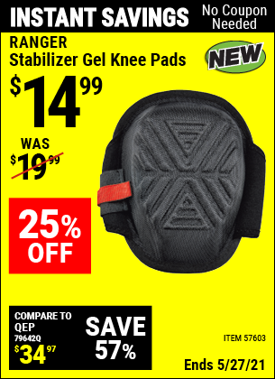 Harbor Freight Tools Coupons, Harbor Freight Coupon, HF Coupons-Stabilizer Gel Knee Pads