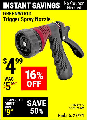Harbor Freight Tools Coupons, Harbor Freight Coupon, HF Coupons-Trigger Spray Nozzle