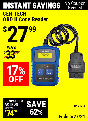 Harbor Freight Tools Coupons, Harbor Freight Coupon, HF Coupons-Obd Ii Code Reader