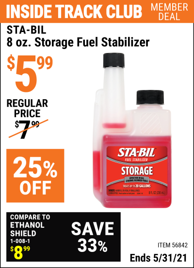 Harbor Freight Tools Coupons, Harbor Freight Coupon, HF Coupons-8 oz. Storage Fuel Stabilizer