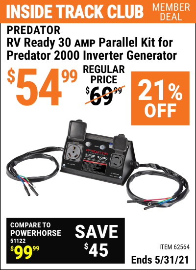 Harbor Freight Tools Coupons, Harbor Freight Coupon, HF Coupons-2000 Watt Rv Ready Parallel Inverter Generator Kit