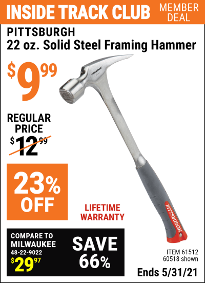 Harbor Freight Tools Coupons, Harbor Freight Coupon, HF Coupons-Steel Professional Hammers