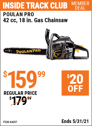 Harbor Freight Tools Coupons, Harbor Freight Coupon, HF Coupons-42cc 18 in. Gas Chainsaw