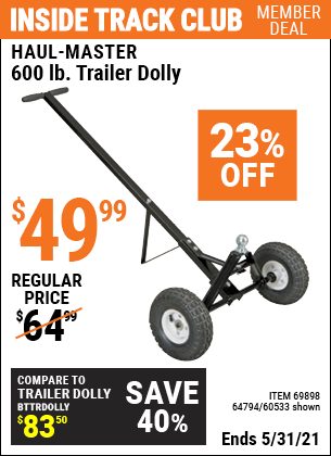Harbor Freight Tools Coupons, Harbor Freight Coupon, HF Coupons-Heavy Duty Trailer Dolly