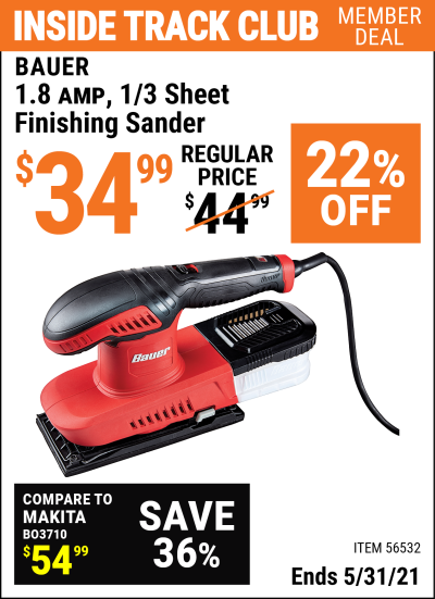 Harbor Freight Tools Coupons, Harbor Freight Coupon, HF Coupons-1.8  Amp 1/3 Sheet Finishing Sander