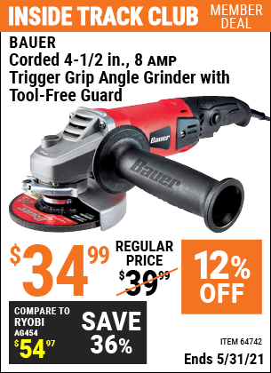Harbor Freight Tools Coupons, Harbor Freight Coupon, HF Coupons-Bauer 4-1/2