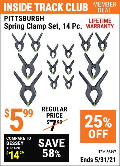 Harbor Freight Tools Coupons, Harbor Freight Coupon, HF Coupons-Spring Clamp Set, 14  Pc.